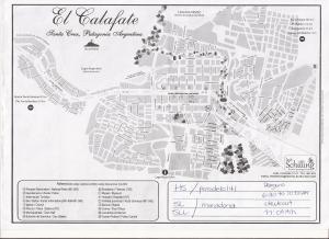 Mapa El Calafate