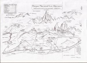 Mapa El Chalten